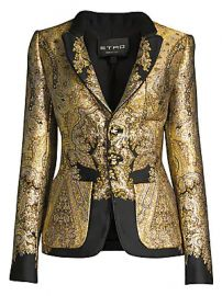 Etro - Metallic Paisley Jacquard Blazer at Saks Fifth Avenue