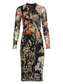 Etro - Patchwork Floral Ruched Jersey Midi Dress at Saks Fifth Avenue