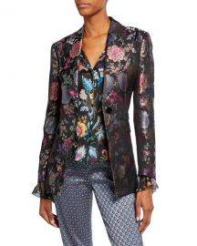 Etro Floral Brocade Fitted Blazer at Neiman Marcus