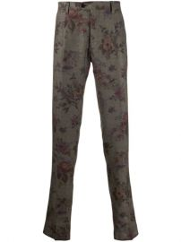 Etro Floral Print Chinos  - Farfetch at Farfetch