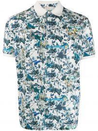 Etro Floral Print Polo Shirt at Farfetch