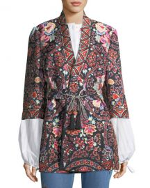 Etro Lily Paisley Open Caban Jacket   Neiman Marcus at Neiman Marcus