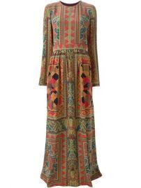 Etro Long Mixed Print Dress - at Farfetch