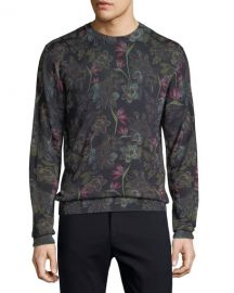 Etro Men  x27 s Floral Wool-Blend Sweater at Neiman Marcus
