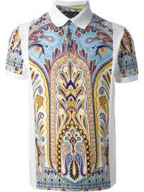 Etro Printed Polo Shirt - at Farfetch