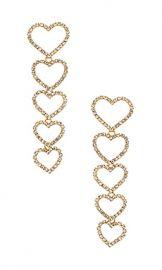 Ettika Drop Heart Earrings in Gold from Revolve com at Revolve