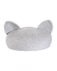 Eugenia Kim Caterina Beret with Cat Ears Silver at Neiman Marcus