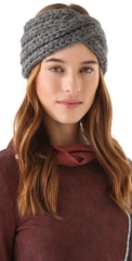 Eugenia Kim Lula Chunky Turban Headband in grey at Shopbop