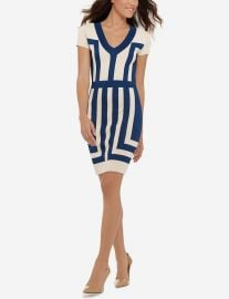 Eva Longoria Color Block Dress at The Limited