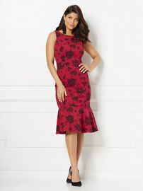 Eva Mendes Collection Isadora Jacquard Sheath Dress by New York and Company at NY&C