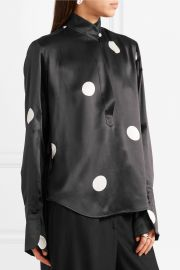 Eve polka-dot silk-satin blouse at Net A Porter