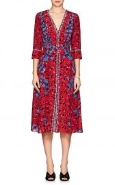 Eve Floral Silk Midi-Dress by Saloni at Barneys