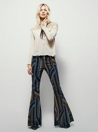 Eve Printed Cord Flare at Free People