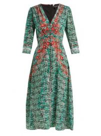 Eve seaweed-printed silk crepe de Chine dress at Matches