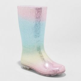 Evelyn Glitter Rain Boots at Target