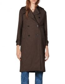 Even Check Trench Coat by Sandro at Bloomingdales