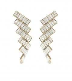 Evening crystal-embellished earrings at Mytheresa