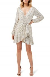 Ever New Flip Sequin Long Sleeve Cocktail Dress   Nordstrom at Nordstrom