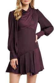 Ever New Tiah Long Sleeve Satin Minidress   Nordstrom at Nordstrom