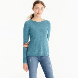 Everyday Cashmere Crewneck Sweater by J. Crew in Hthr Bright Harbour at J Crew