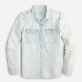 Everyday Chambray Shirt in Bleached-Out Wash by J. Crew at J. Crew