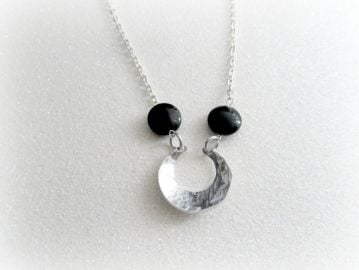 EverythingPrettyShop Above the Moon Charm Necklace at Etsy