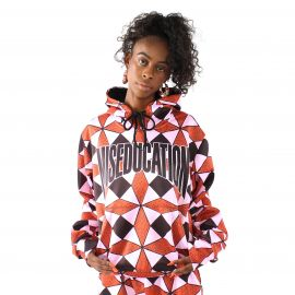 Ex Factor Diamond Print Hoodie by Melody Ehsani at Melody Ehsani