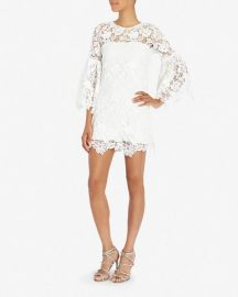 Exclusive Bell Sleeve Lace Dress by Alexis at Intermix