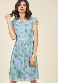 Expansive Interests A-Line Dress in Pineapple at ModCloth