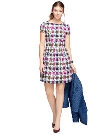Exploded Floral Cotton Gingham Dress at Brooks Brothers