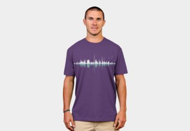 Expo Music City Tee in purple at Design by Humans