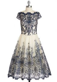 Exquisite Elegance Dress in Navy at ModCloth
