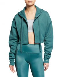 Extreme Crop Hooded Zip-Front Jacket at Neiman Marcus