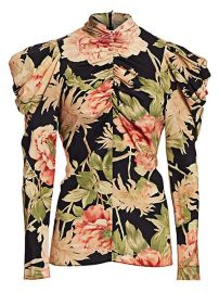 Eye Spy Floral Puff-Sleeve Blouse at Saks Fifth Avenue