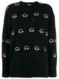 Eye embroidered jumper at Farfetch