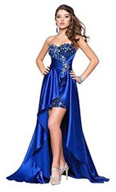 Eyekepper Ladies Beaded Front Short Long Back Prom Evening Gown Party Dress at Amazon