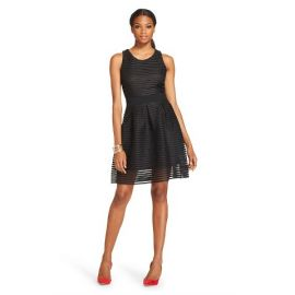 Eyelet Scuba Racer back dress at Target