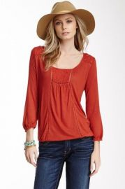Eyelet Trim Top at Lucky Brand