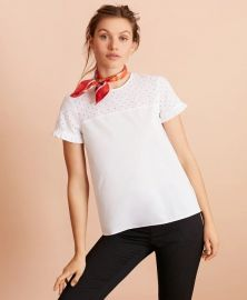 Eyelet-Yoke Blouse by Brooks Brothers  at Brooks Brothers