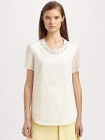 Eyelet detail top by Phillip Lim at Saks Fifth Avenue