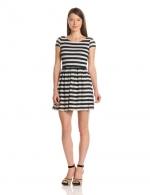 Eyelet knit stripe dress by Eight Sixty at Amazon