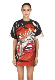 Eyes Printed T-Shirt Dress by Moschino at Luisaviaroma