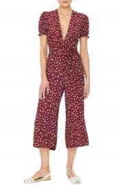 FAITHFULL THE BRAND Bonnie Floral Print Crop Jumpsuit at Nordstrom