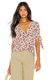 FAITHFULL THE BRAND Lucy Wrap Top in Lumina Floral from Revolve com at Revolve