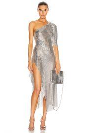 FANNIE SCHIAVONI Margot Dress in Silver   FWRD at Forward