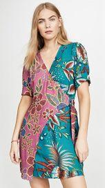 FARM Rio Floral Sparkle Mixed Wrap Dress at Shopbop