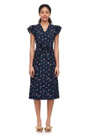 FARREN FLOWER POPLIN DRESS at Rebecca Taylor