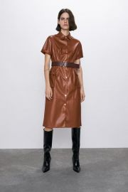 FAUX LEATHER DRESS at Zara