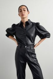 FAUX LEATHER SHIRT at Zara
