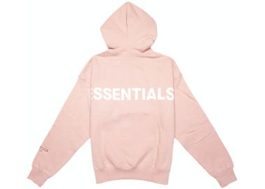 FEAR OF GOD ESSENTIALS Pink 3M Logo Pullover Hoodie Blush at Stock X
